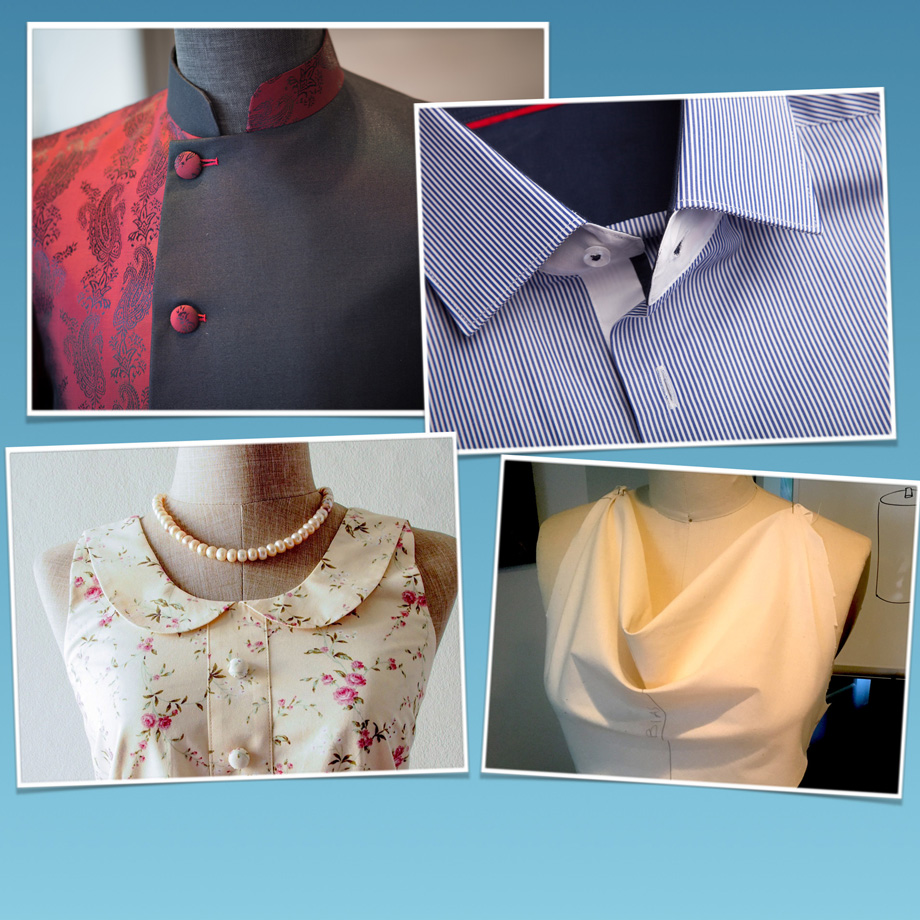 Mandarin collar. Convertible collar. Peter Pan collar.