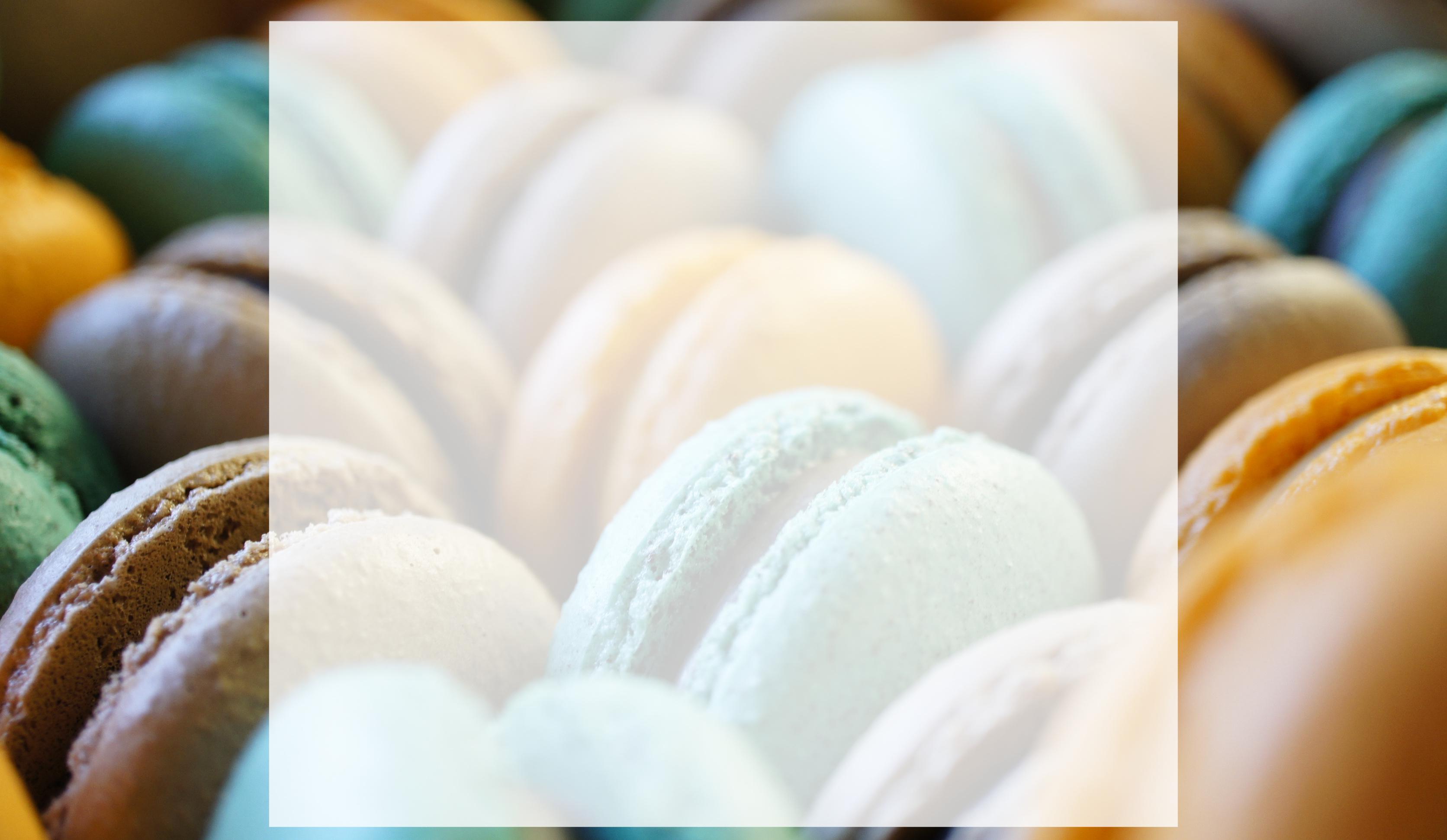 stacks of macarons