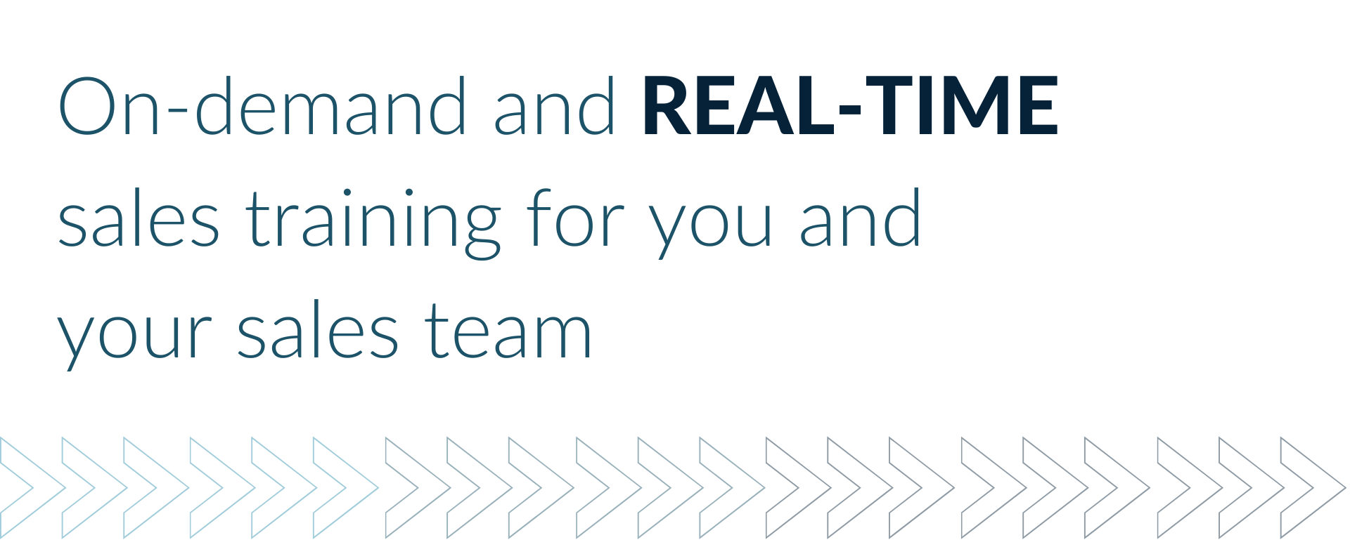 On-demand and real-time sales training for you and your sales team