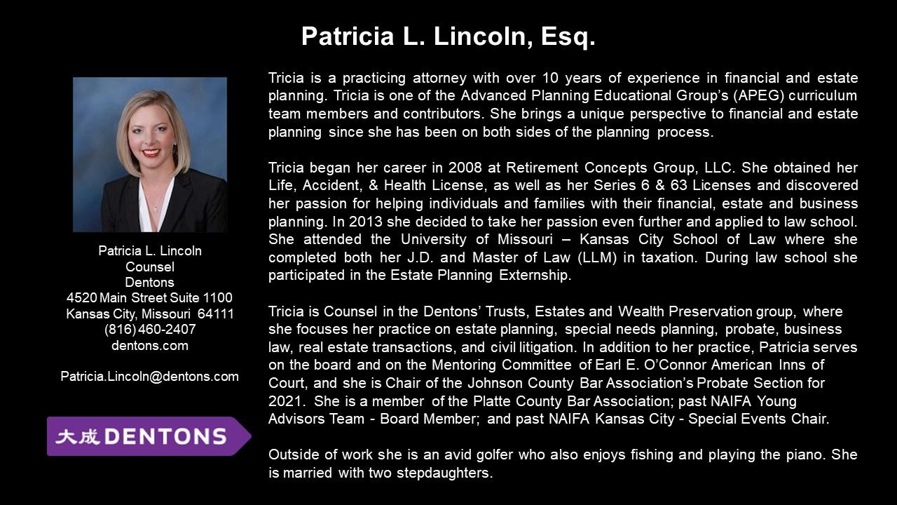 APEG Patricia L Lincoln, Esq.