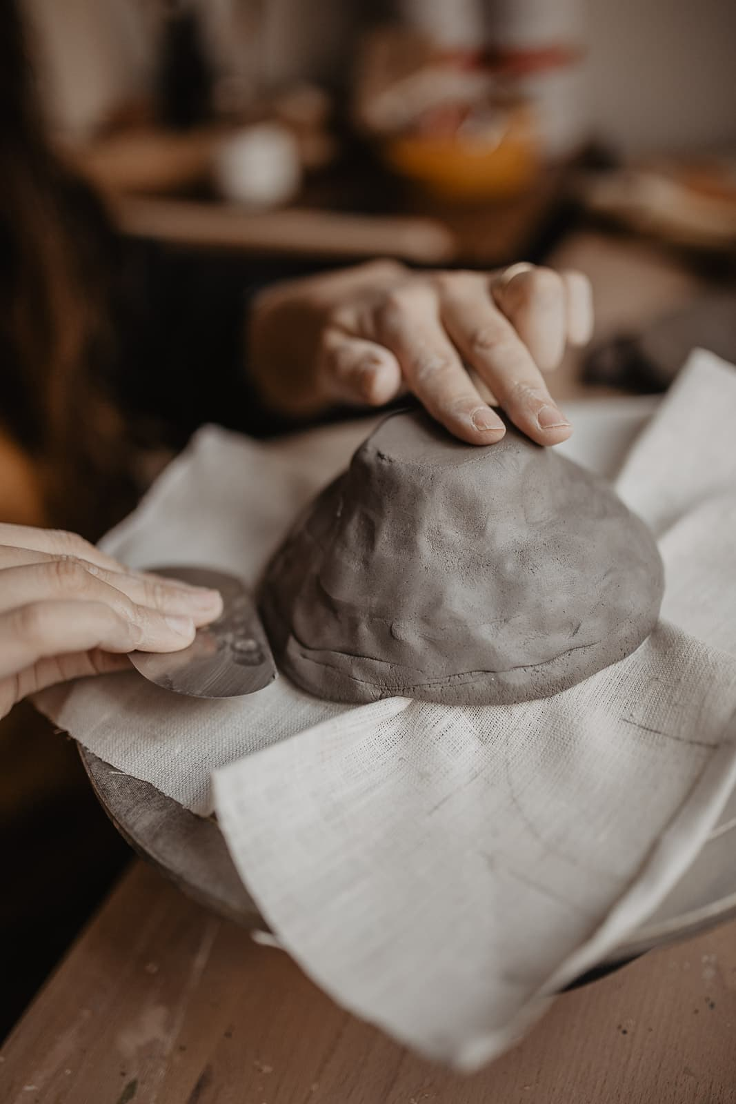 Making pottery from home
