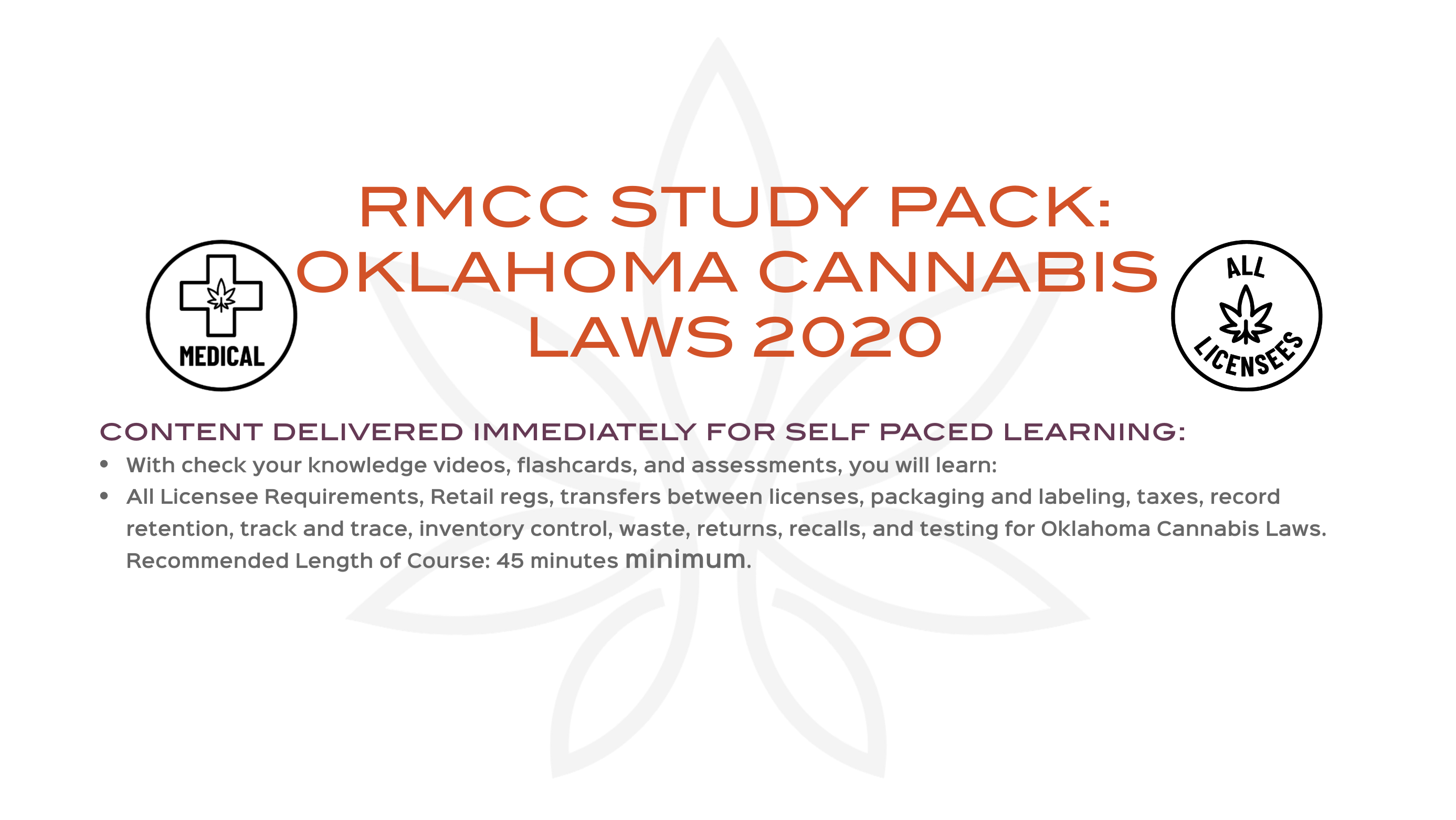 RMCC STUDY PACK Introduction to Oklahoma Cannabis Laws