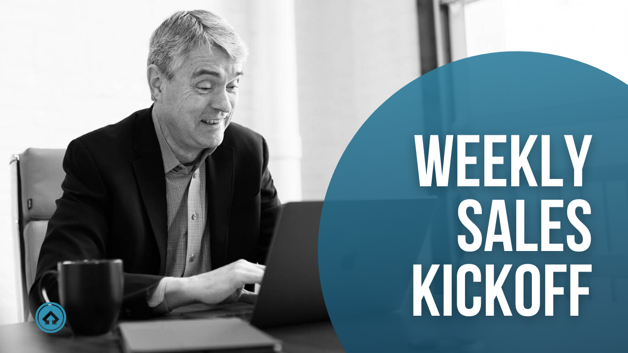 Level 1, 2, and 3 members get access to Mark's Weekly Sales Kickoff emails.
