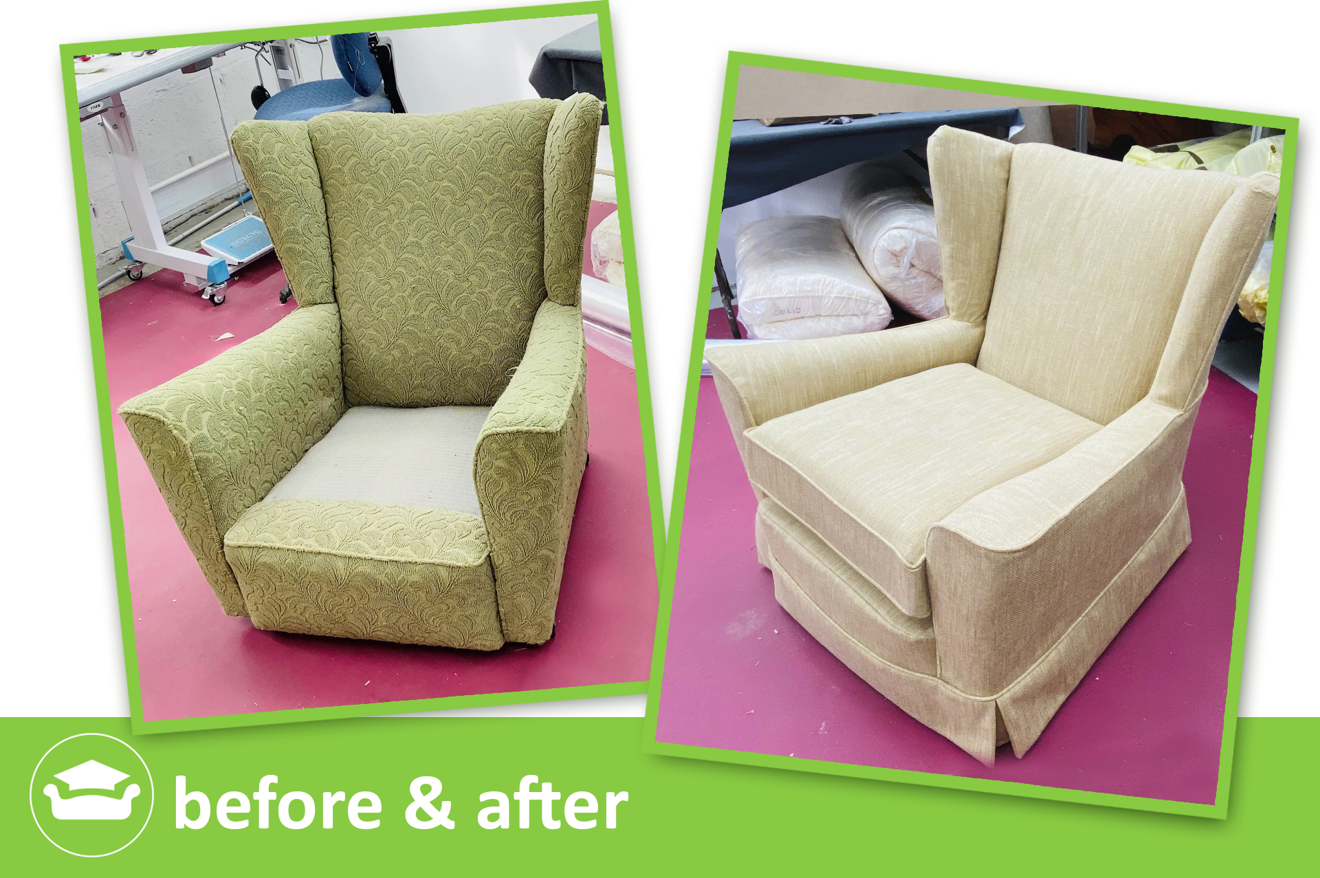 learn slipcovers for a wing chair with seat tuck in