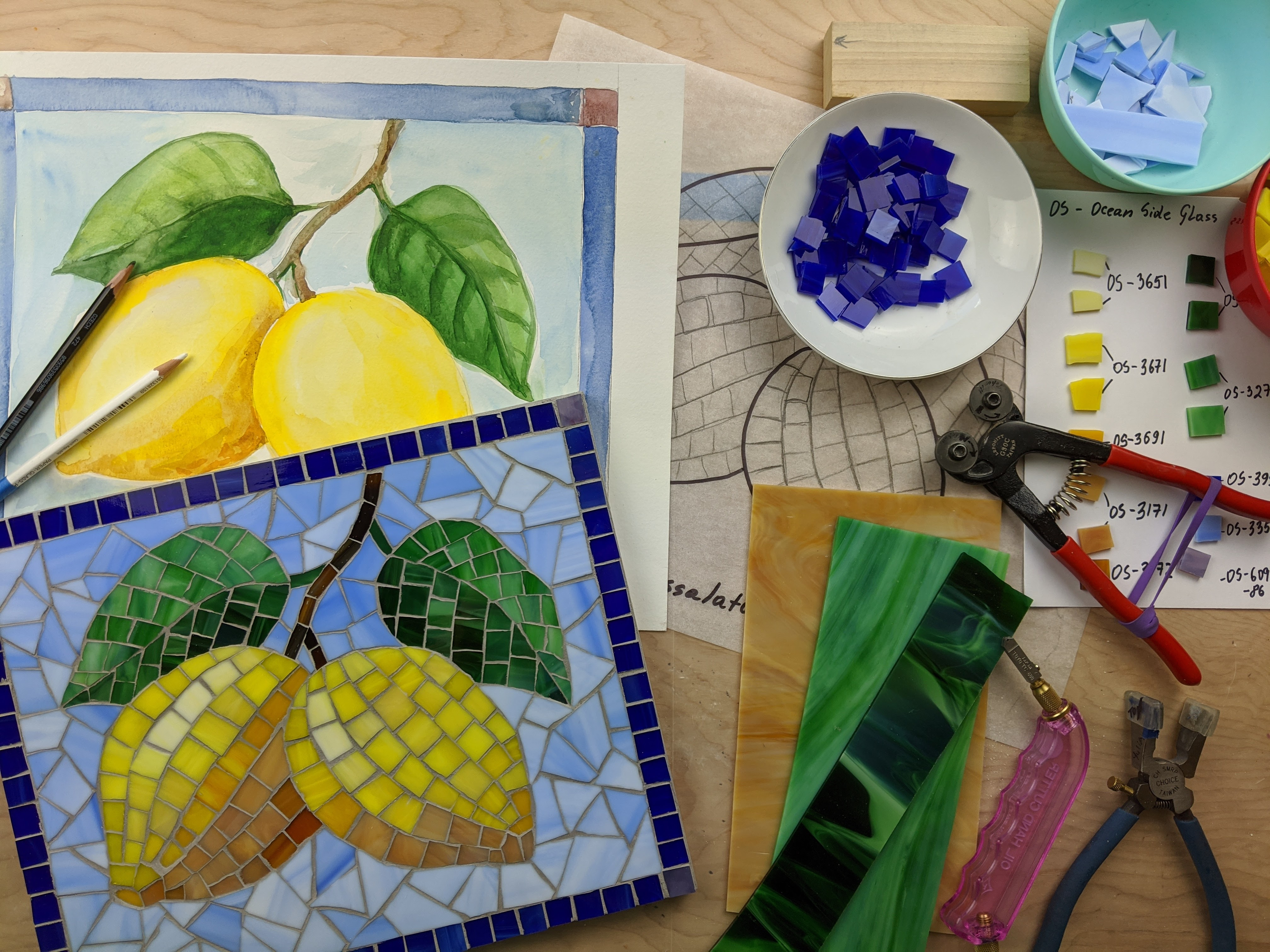 """""""lemons"""" mosaic"""