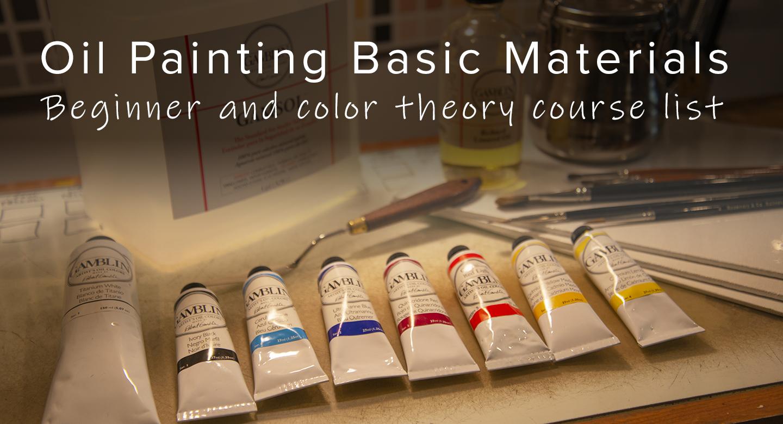 Basic materials needed for RL Caldwell Studio