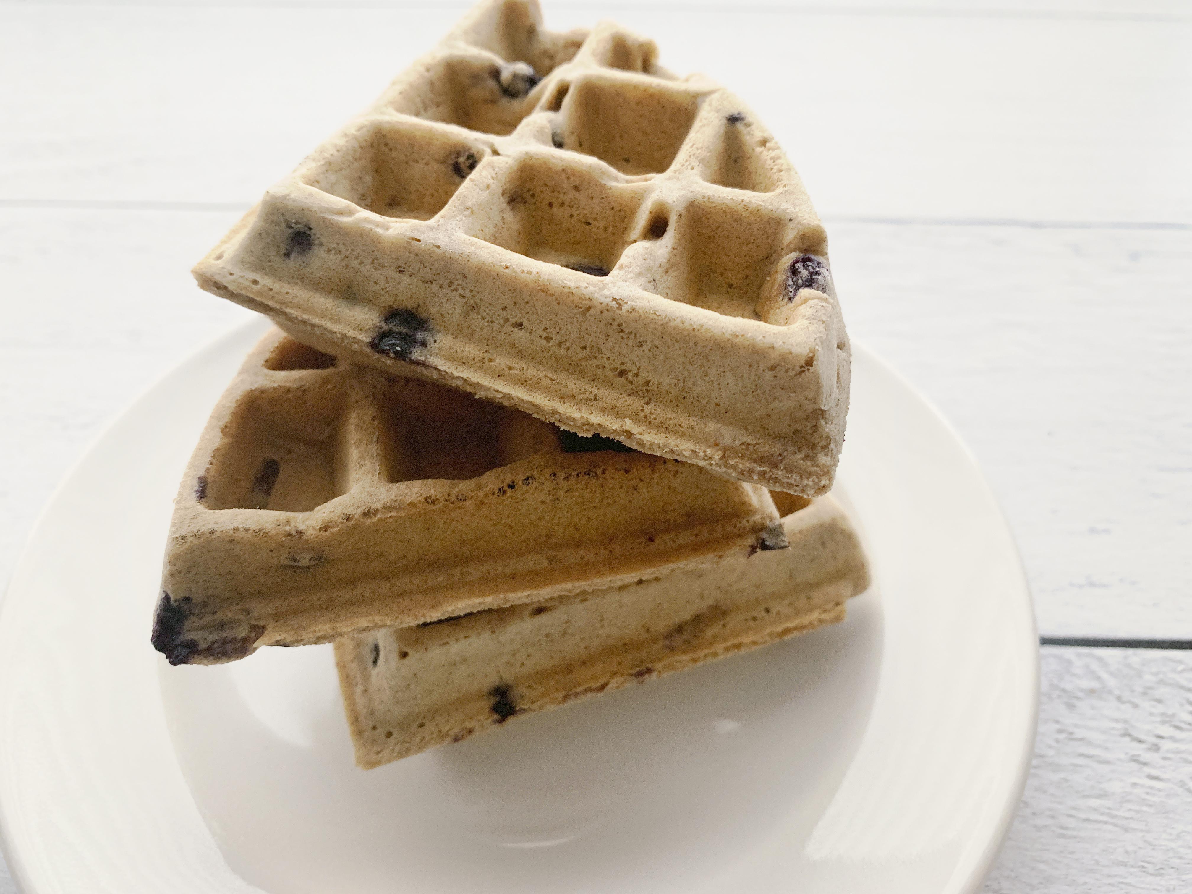 Gluten Free Cinnamon Blueberry Waffles