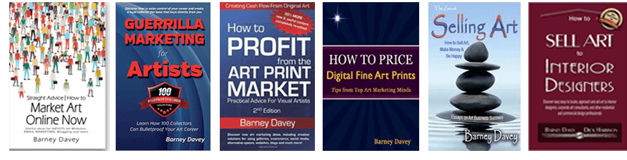 Six Art Marketing Bestsellers by Barney Davey