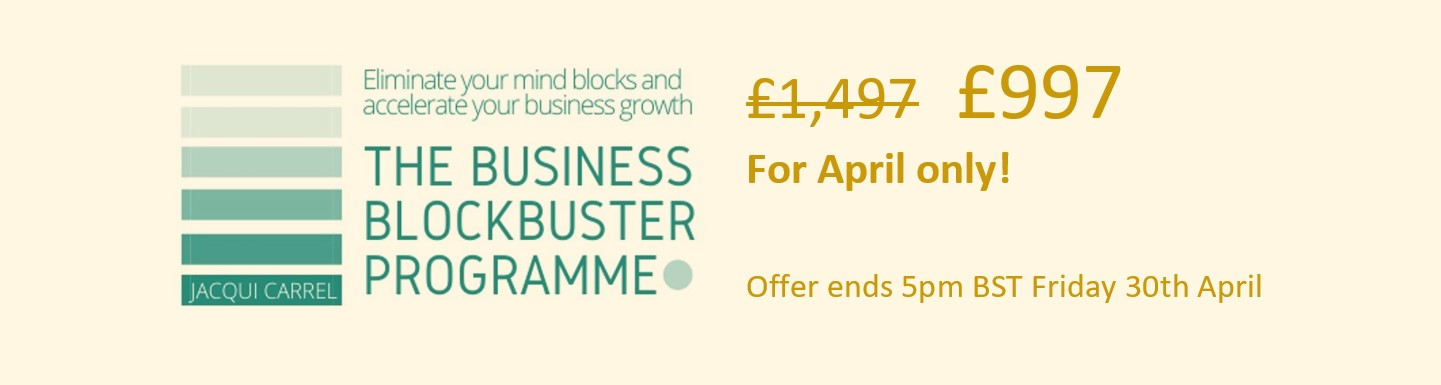 Business BlockBuster Special Offer - 597 GBP - with Jacqui Carrel