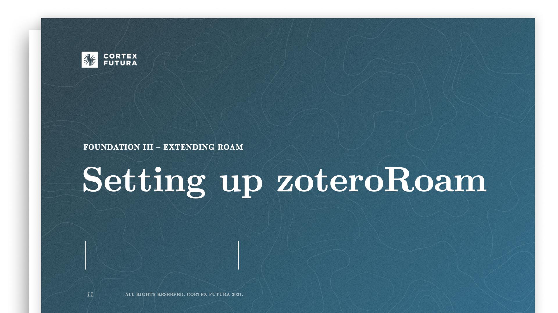 Setting up zoteroRoam
