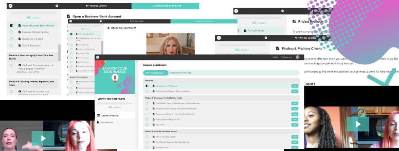 Launch Your Side Hustle Course Screenshots