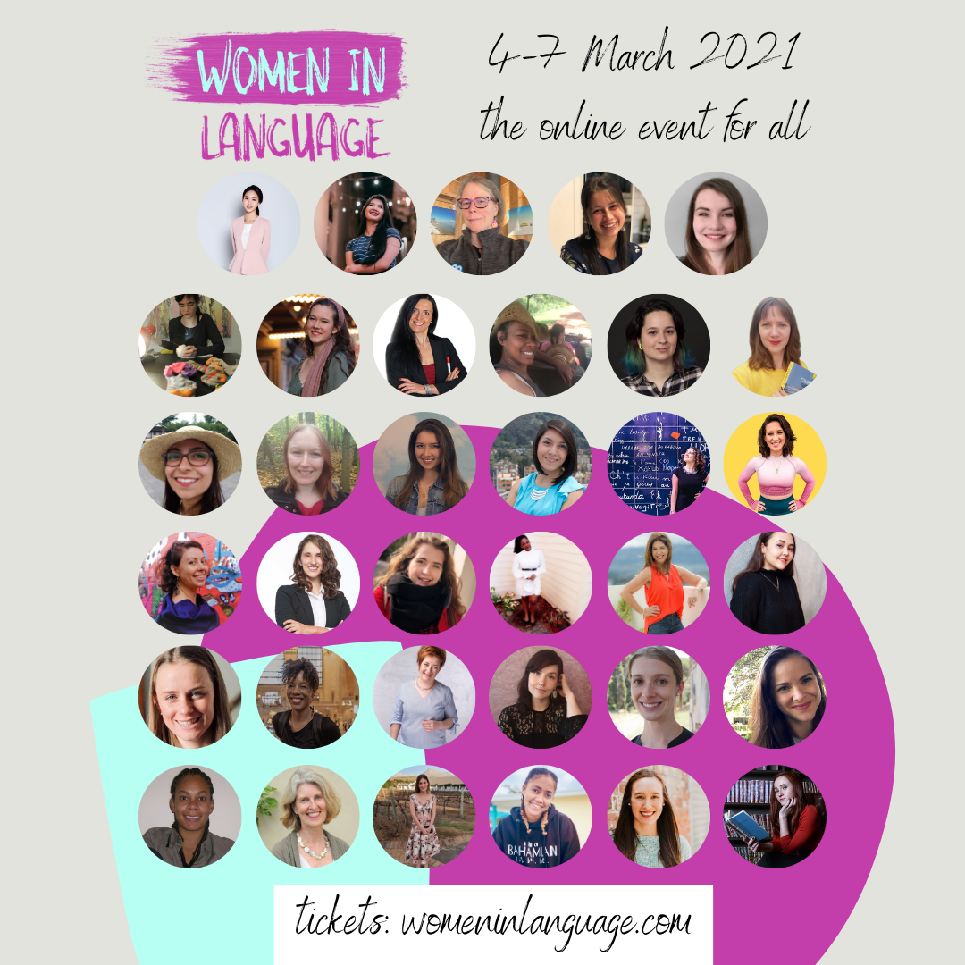 portraits of the women in language 2021 speakers