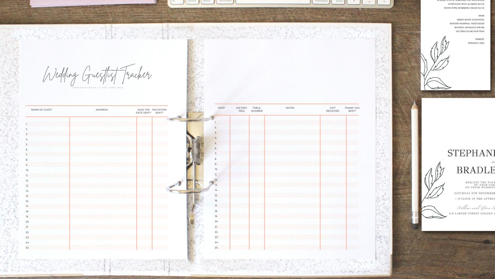Wedding planner folder image