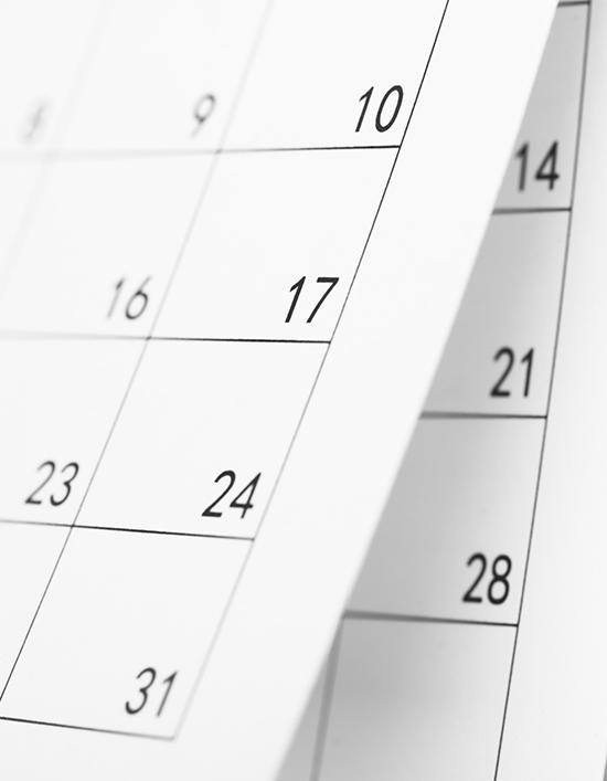 Schedule: Key Dates