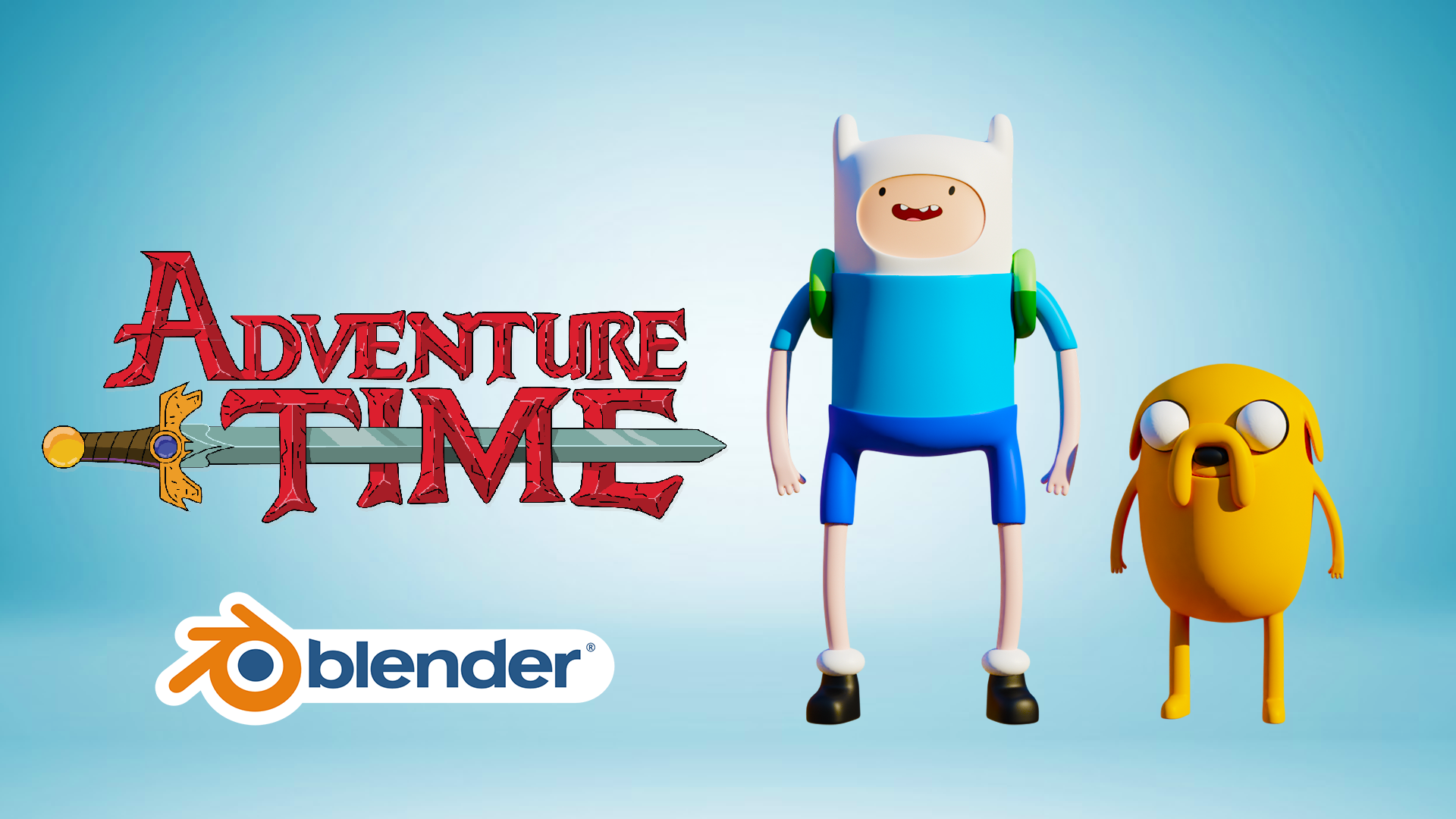 3D Adventure Time Finn And Jake Character Modeling Blender Academy Course