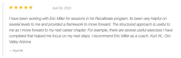 Kurt W. Review of #Recalibrate