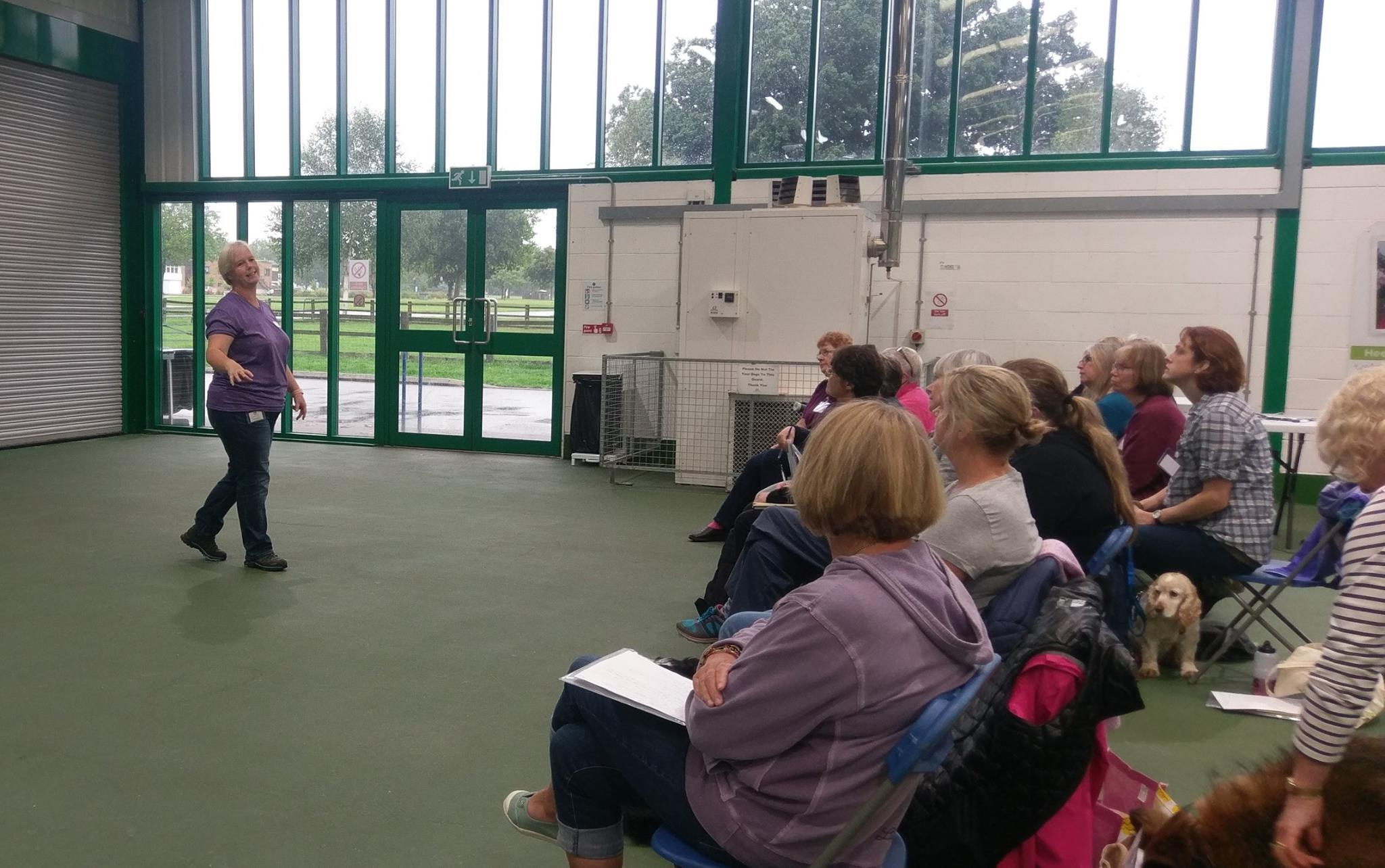 Pam Mackinnon teaching at UK Kennel Club