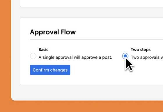 ContentCal approval workflows