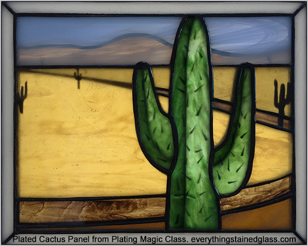 stained glass plating magic course - cactus
