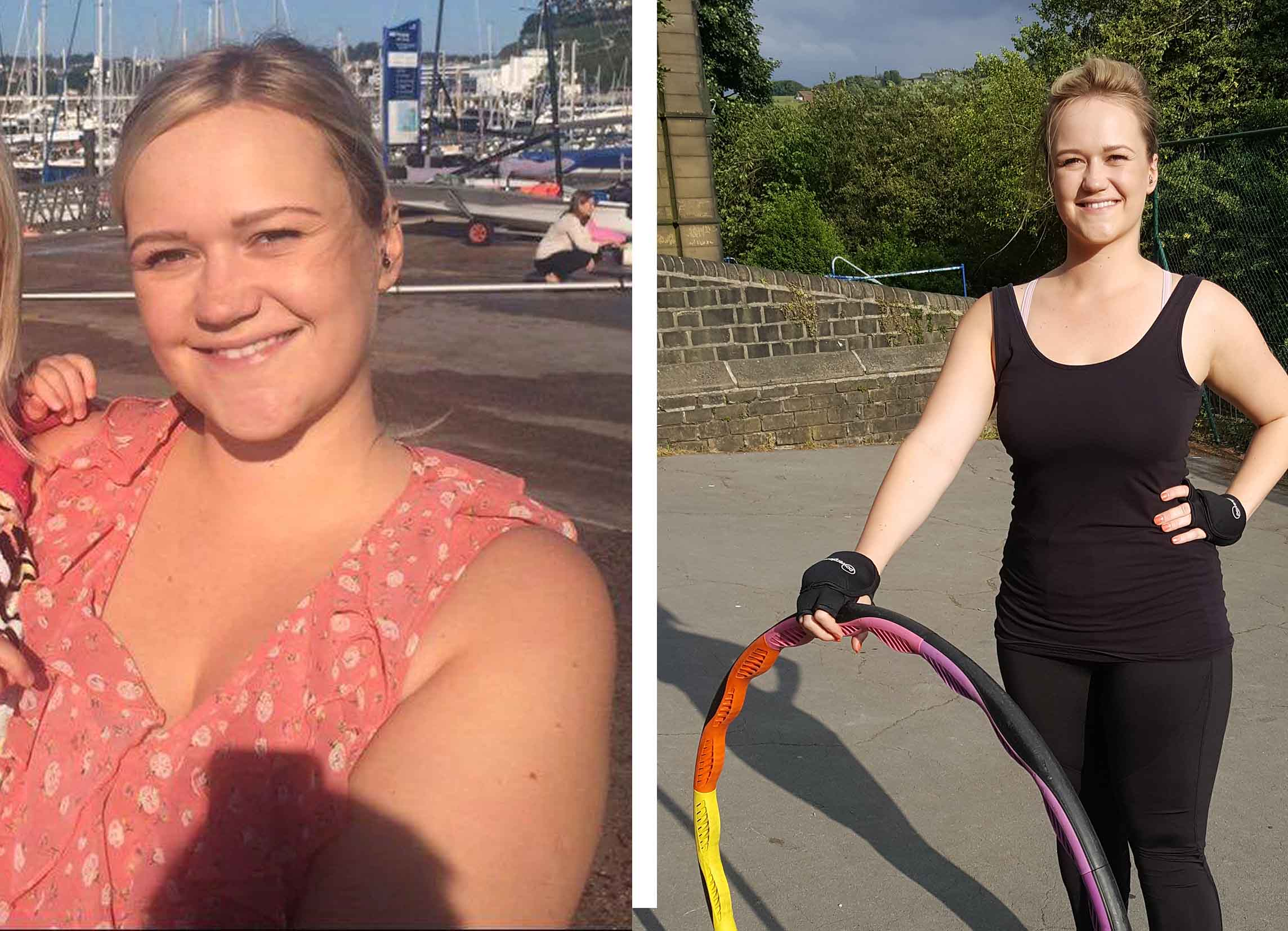 Sarah before and after Powerhoop
