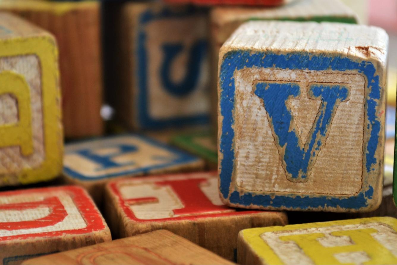 Alphabet letter blocks for children