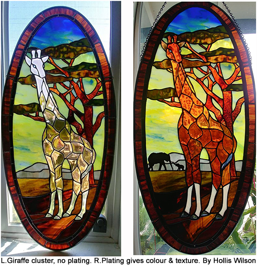 plated stained glass giraffe - Hollis Wilson