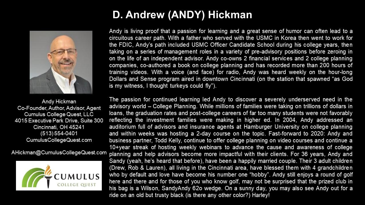APEG D. Andrew Hickman