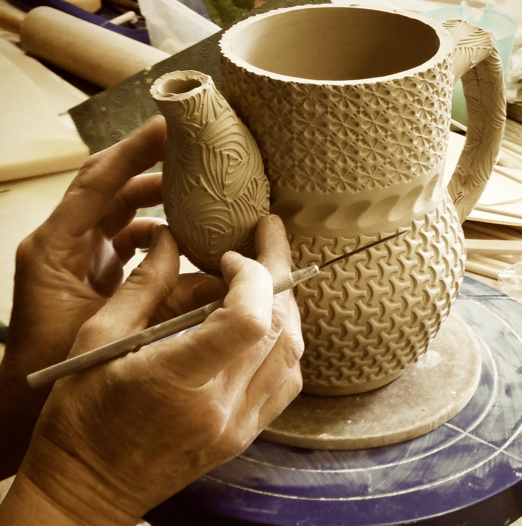 handbuilding pottery hand-built functional