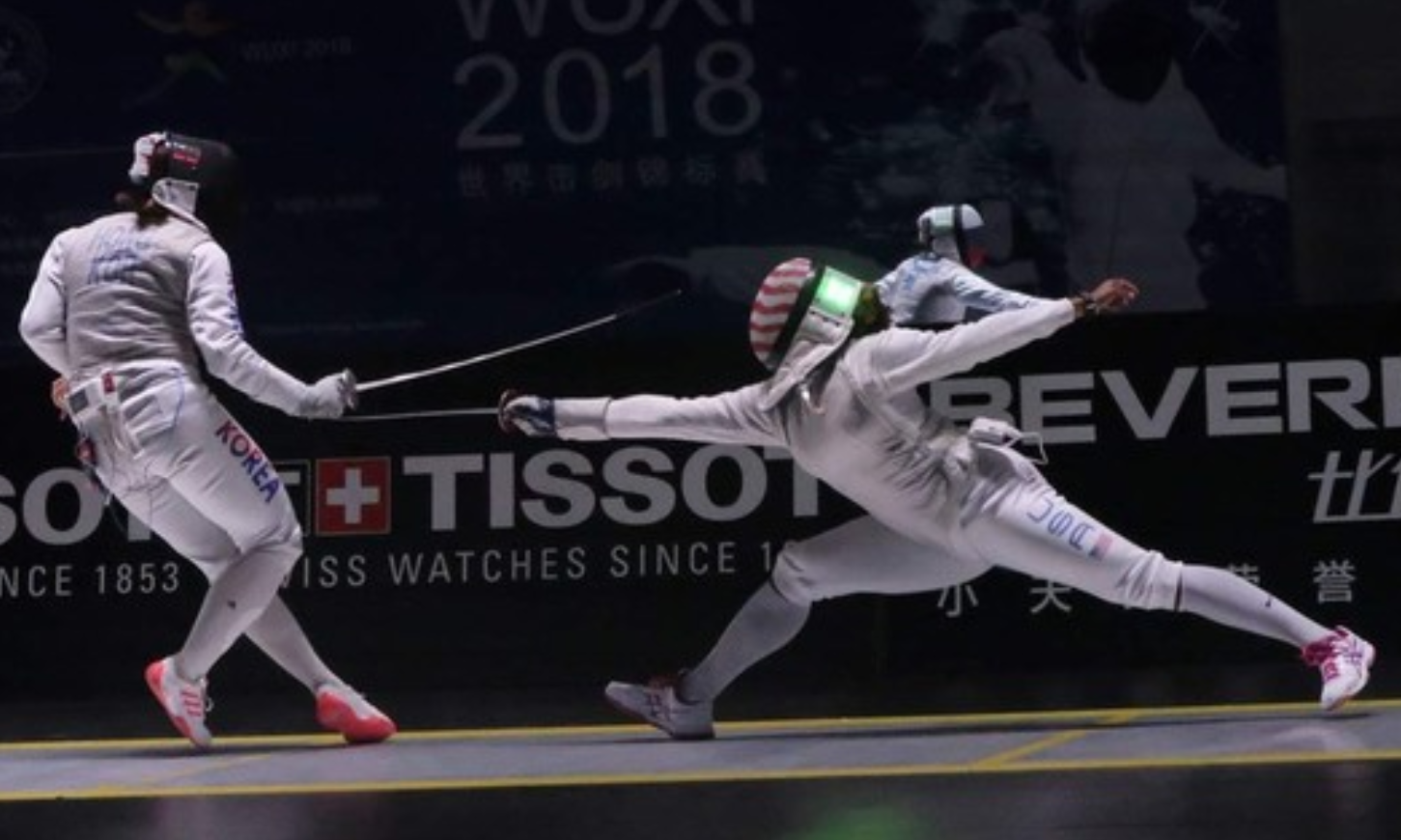 Nzingha Prescod scores and proves to be one of the greatest fencers of all time