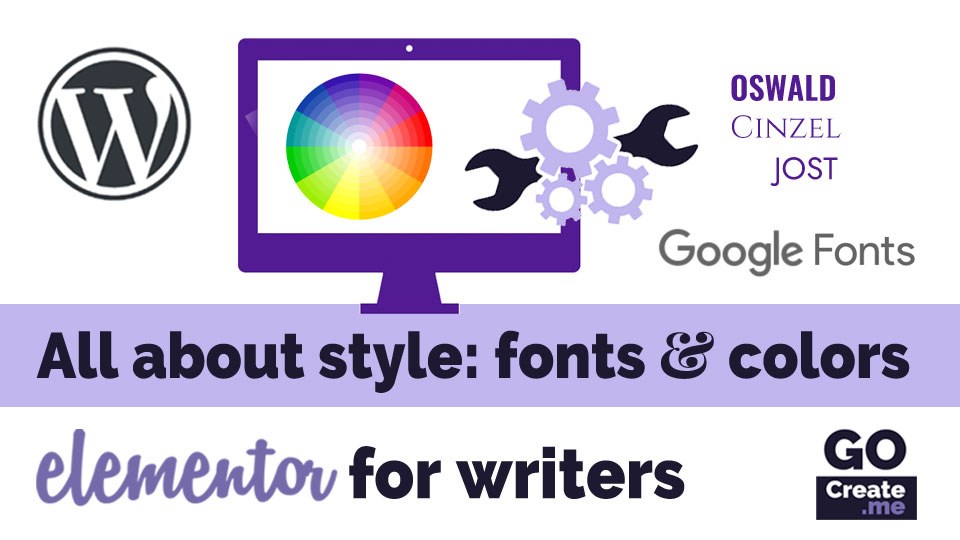 Style, colors, and fonts