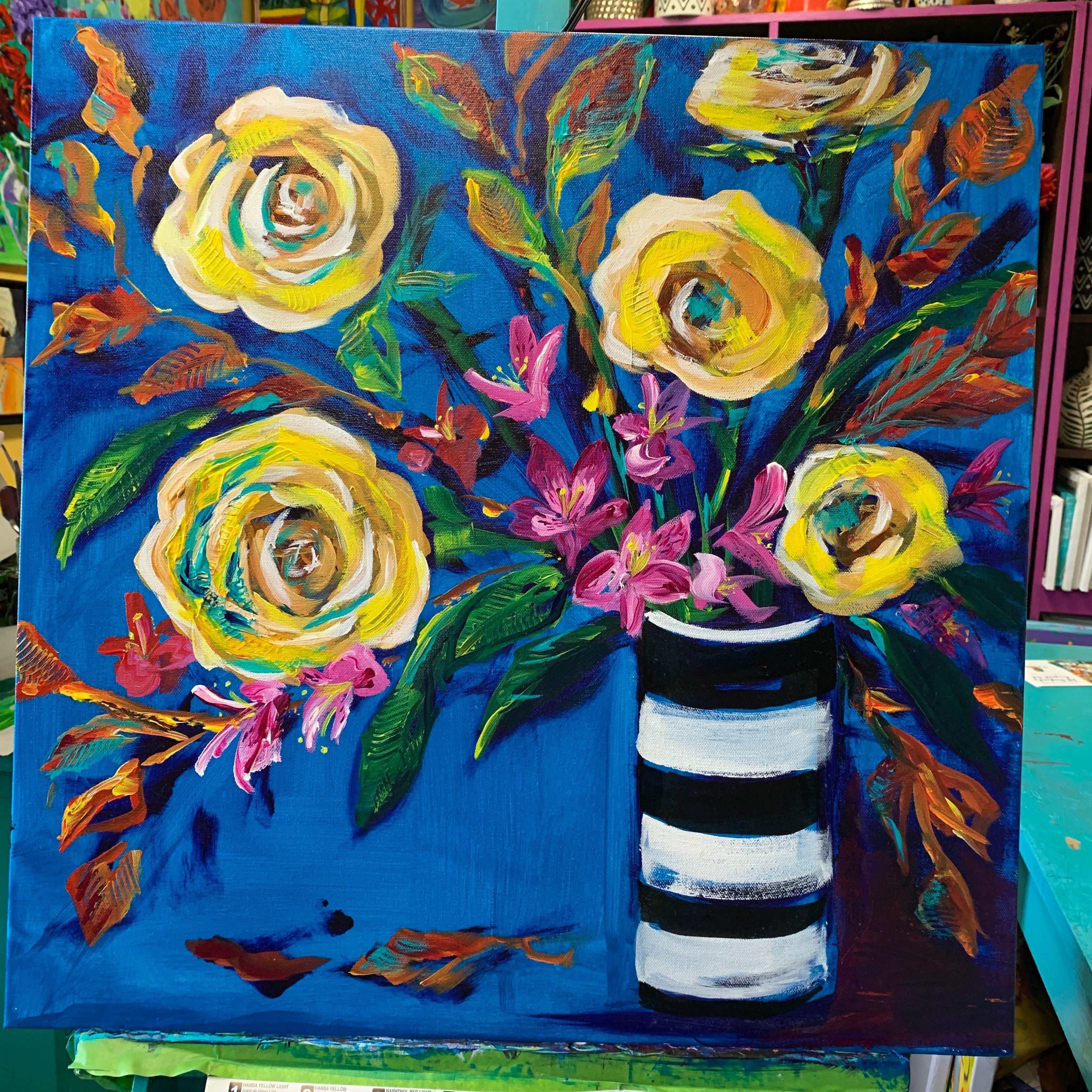 Paint Seasonal Bouquets Subscription Let S Paint Flowers