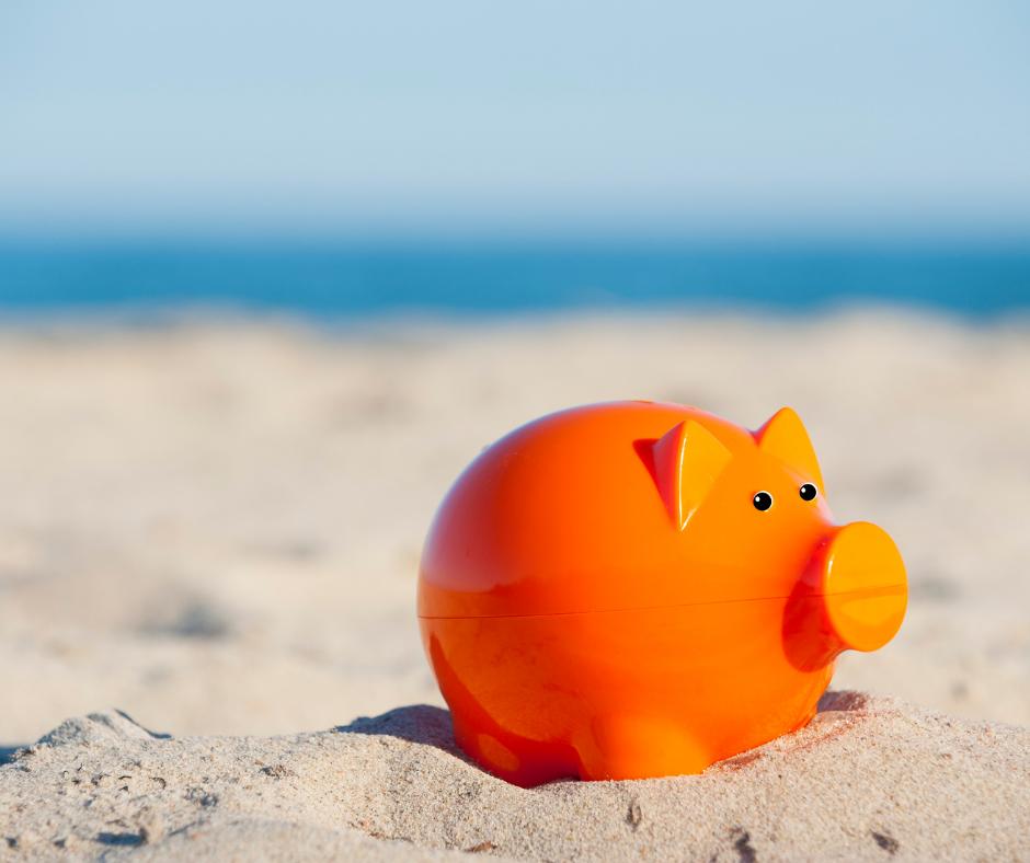 orange piggy bank