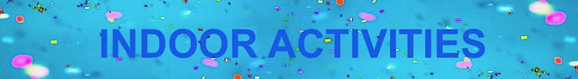 An abstract patterned banner with the word 'Activities' in the centre