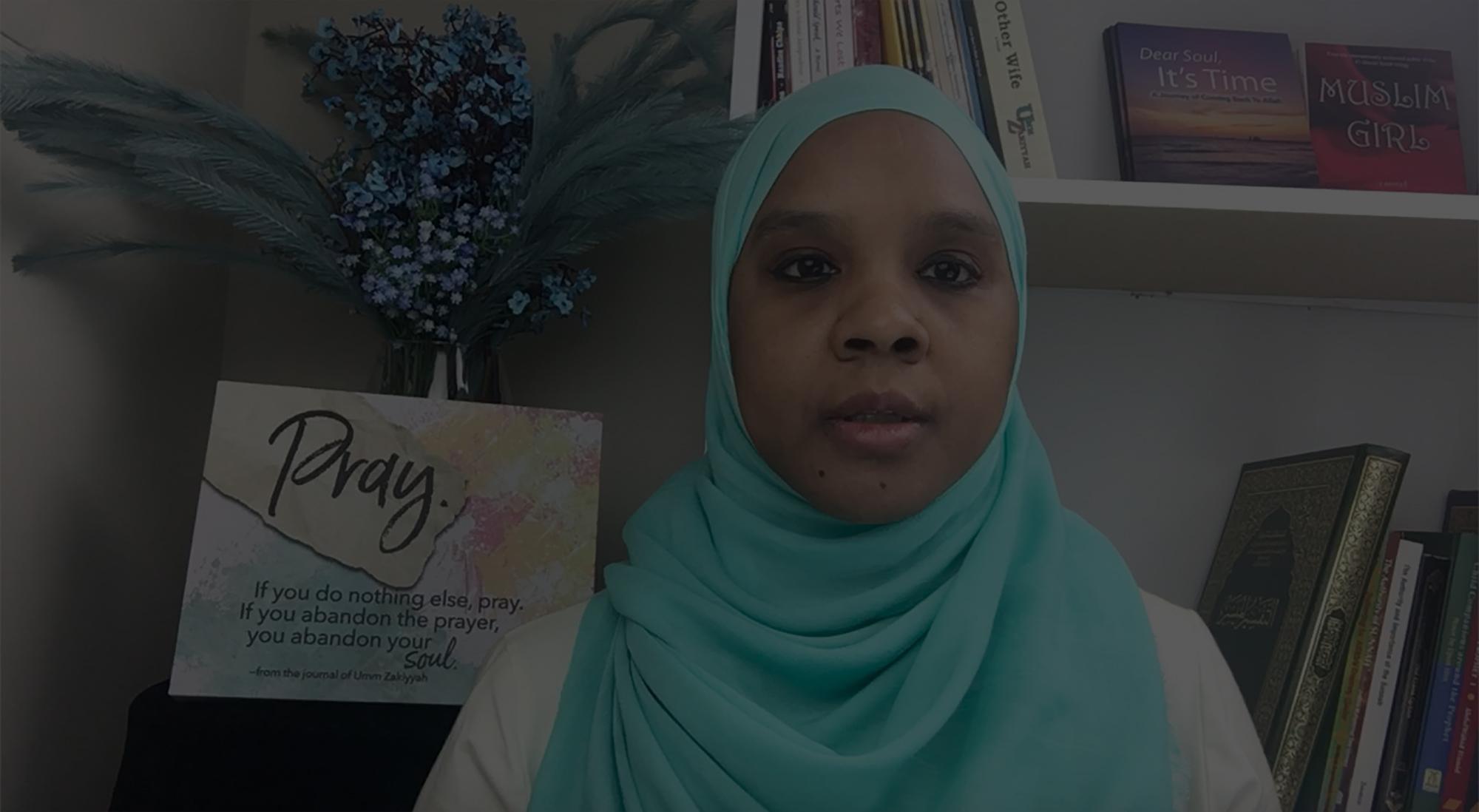 Photo of Umm Zakiyyah in UZ Heart & Soul Care space