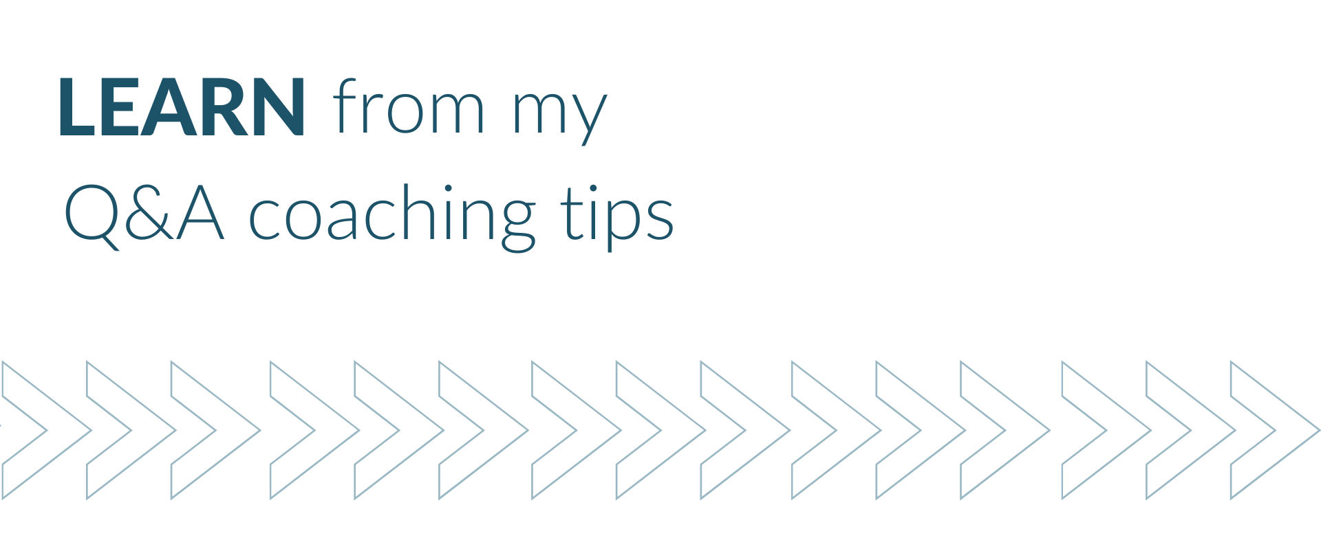 Learn from my Q&A coaching tips