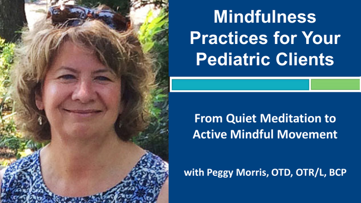 Webinar 4: Mindfulness Practices: From Quiet Meditation to Active Mindful Movement with Peggy Morris, OTD, OTR/L, BCP