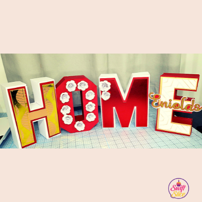 HOME 3D letters