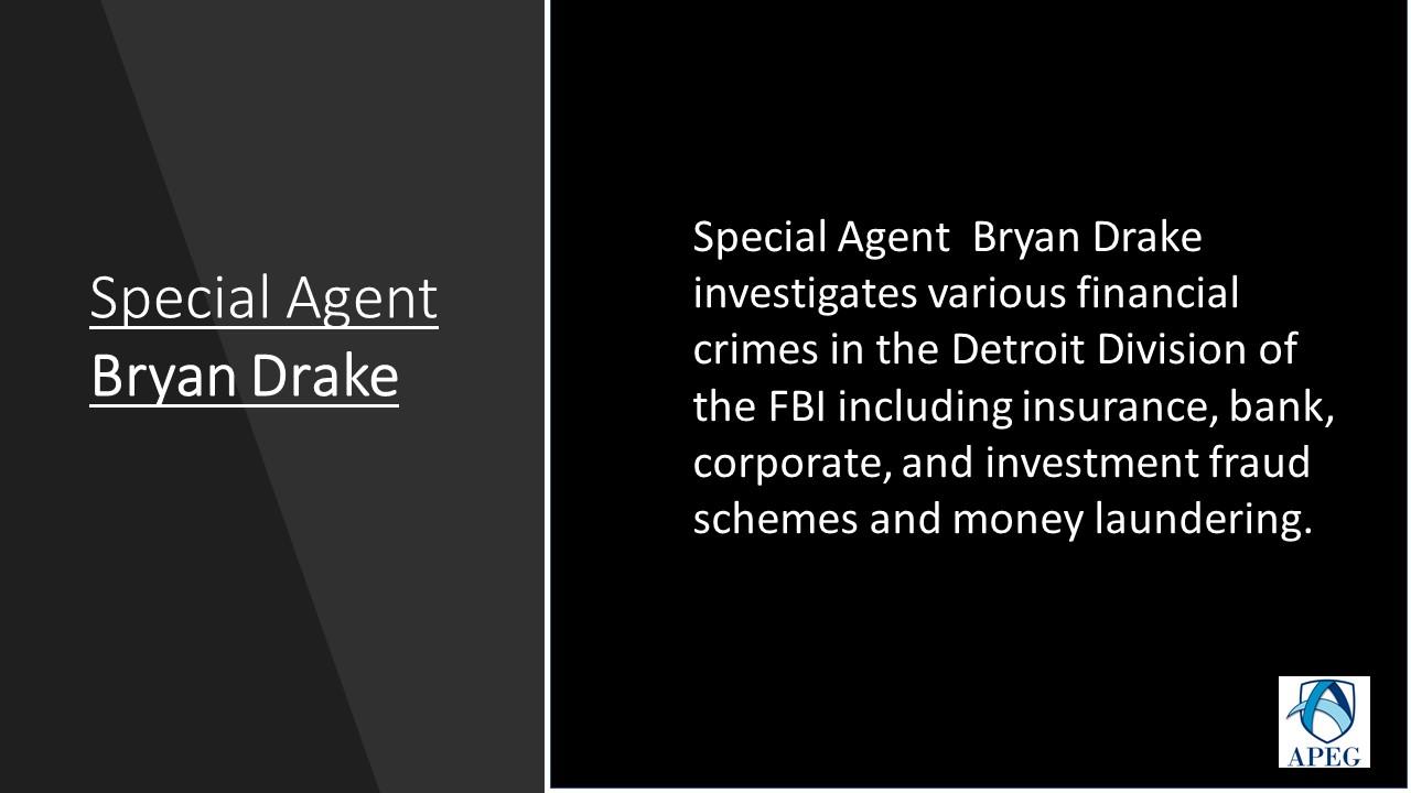 APEG Bryan Drake Special Agent