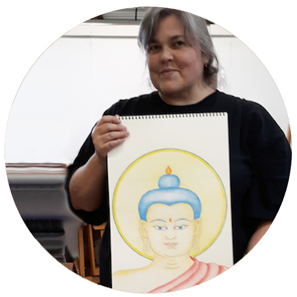 Tesimonial Drawing the Buddha Face! Thangka Course