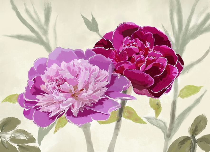peonies feng shui flowers for love