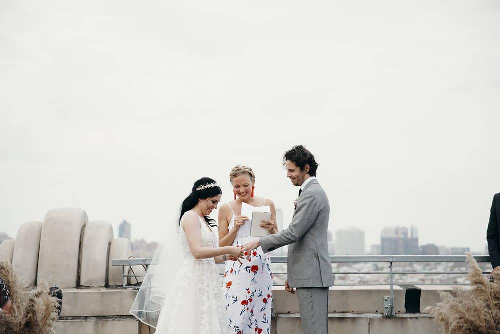 Friend officiating wedding in Philadelphia