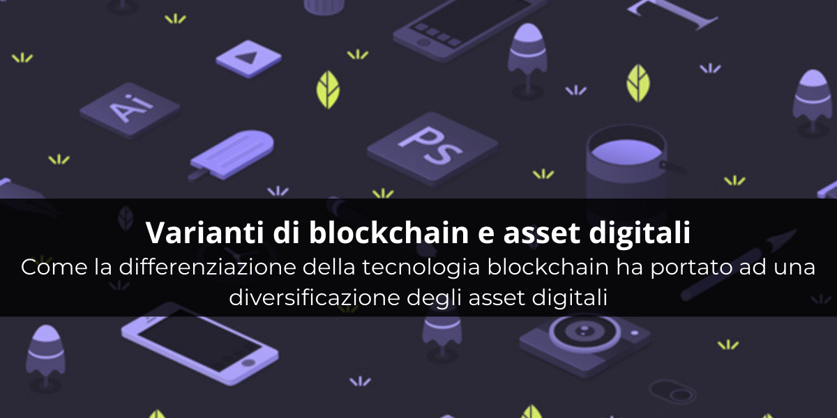 Varianti di blockchain e asset digitali. Come la differenziazione della tecnologia blockchain ha portato ad una diversificazione degli asset digitali