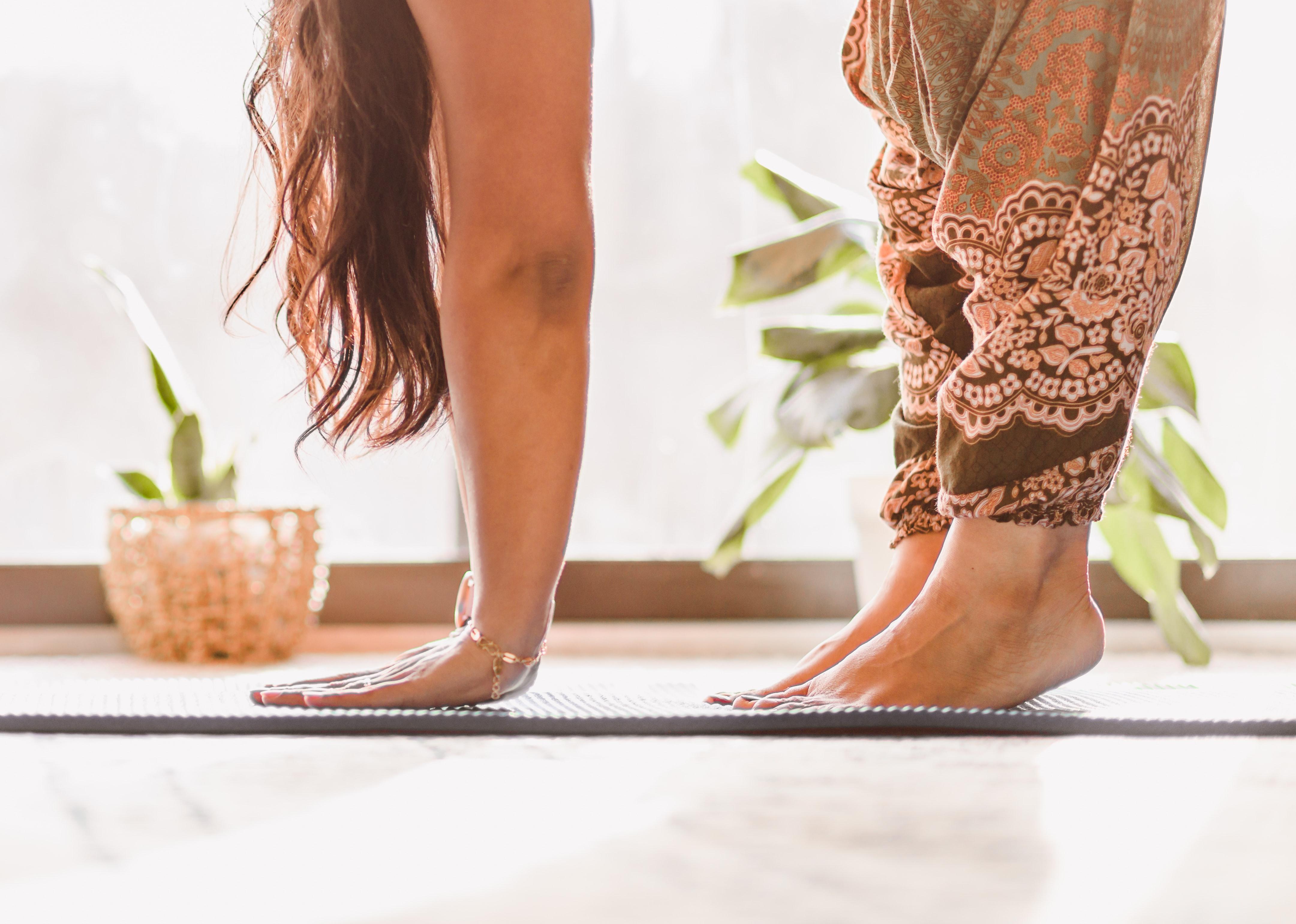 woman yoga studio