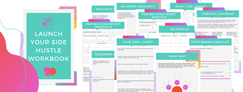 Launch Your Side Hustle Course Worksheets