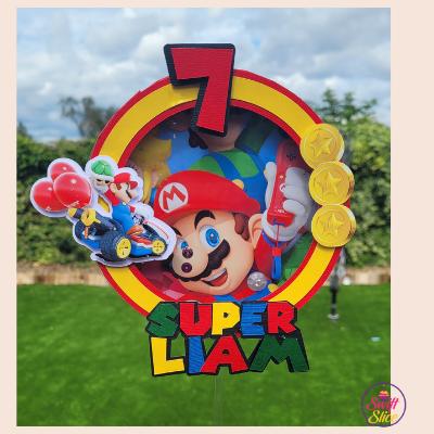 Mario shaker cake topper