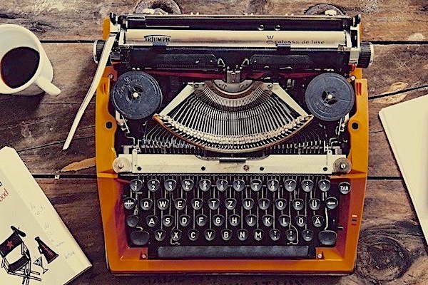 Old-fashioned typewriter on a desk