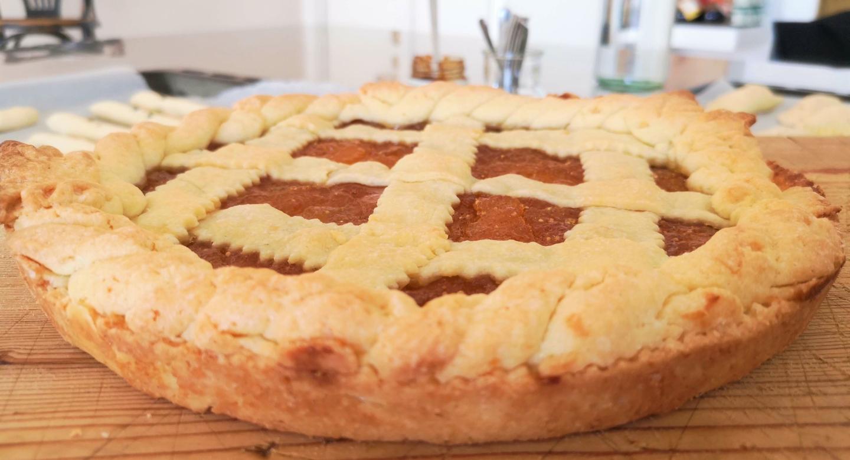Italian crostata cake