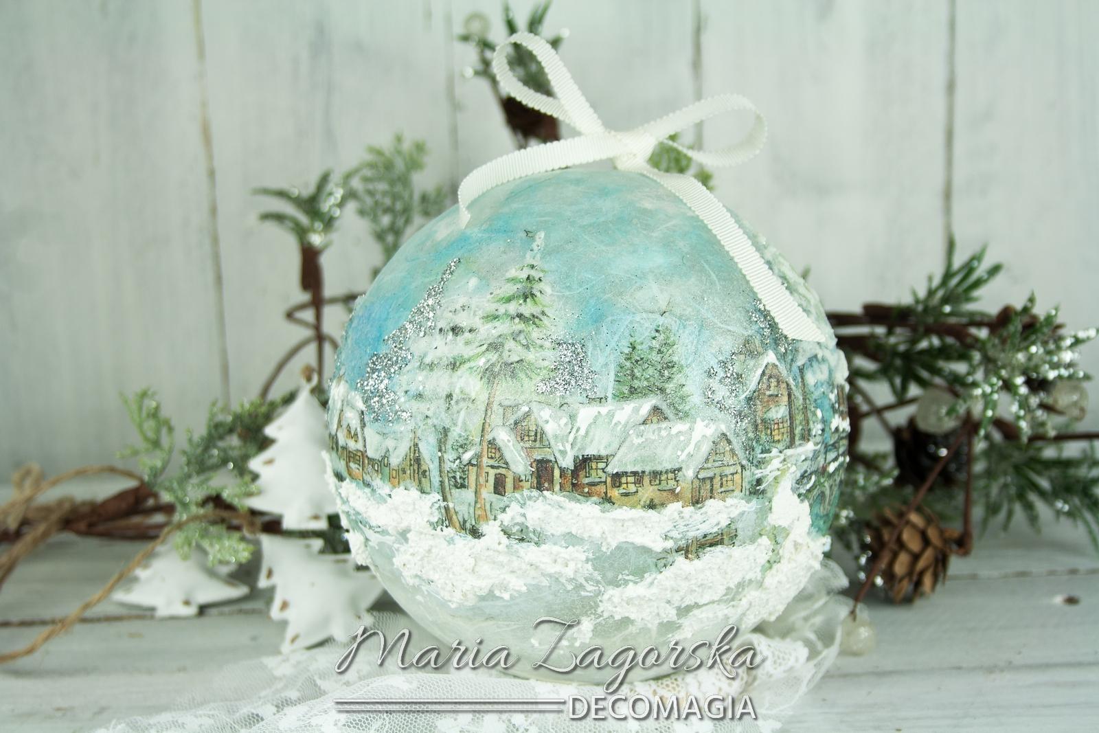 Χριστουγεννιάτικη μπάλα με decoupage