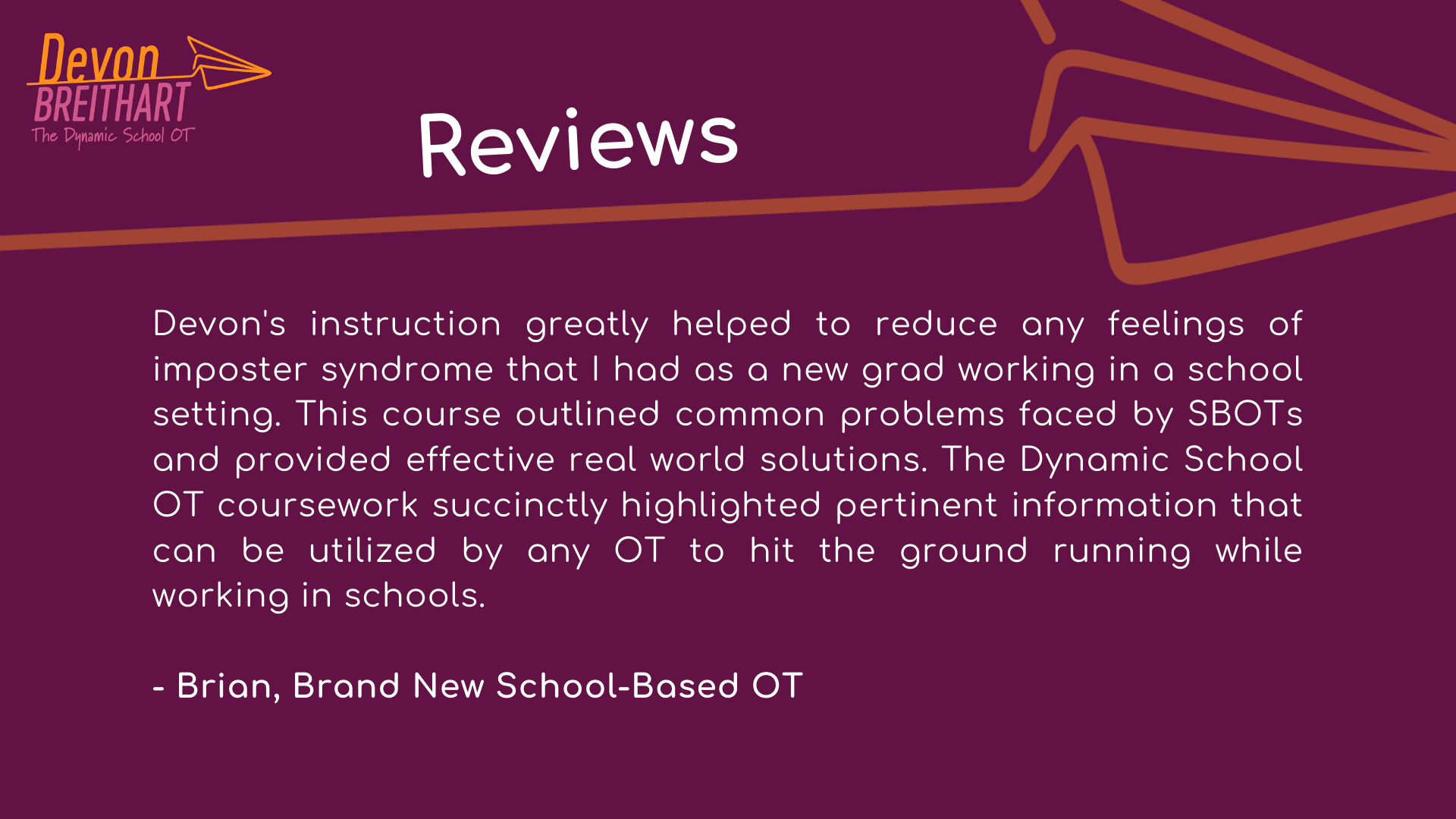 Review of The Dynamic School OT
