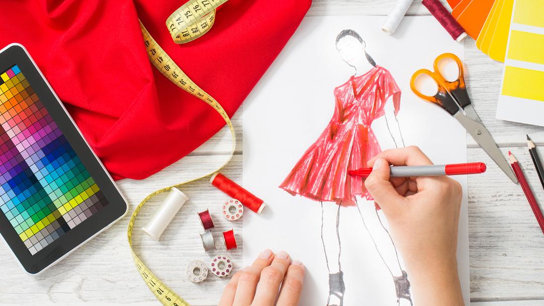 Sketching fashion design